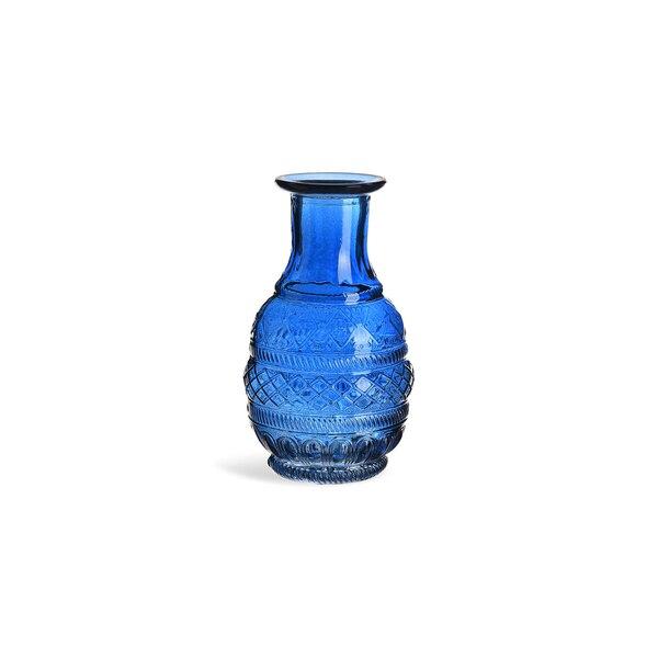 Vase Marakesch aus Glas, blau