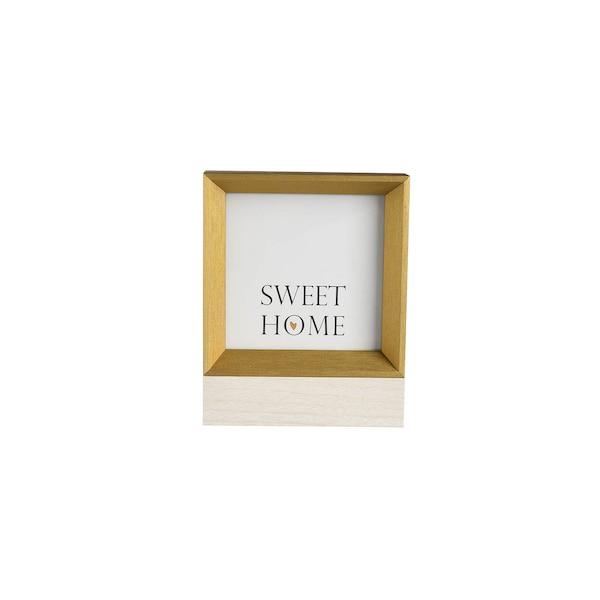 Bilderrahmen Cube, gold