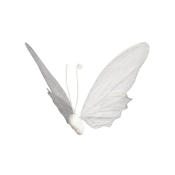 Dekofigur Schmetterling zum Hängen, weiß