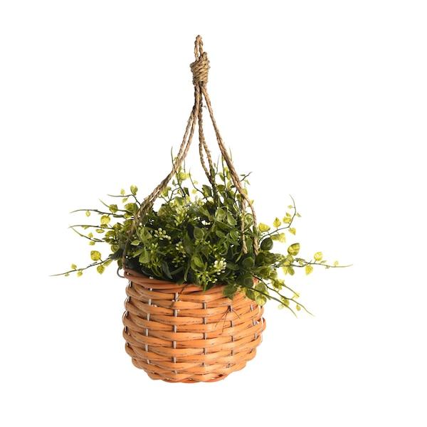 Kunstpflanze im Topf, hängend, grün