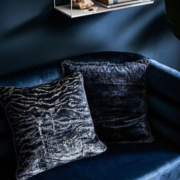Kissenhülle Velours, dunkelblau