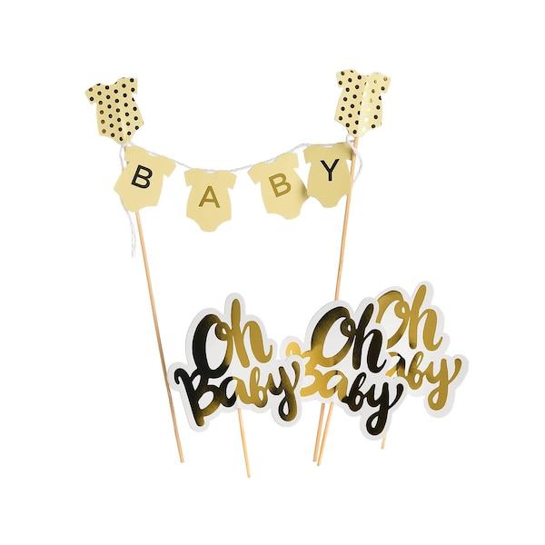 Kuchendekoset Babyshower 9-teilig, bunt