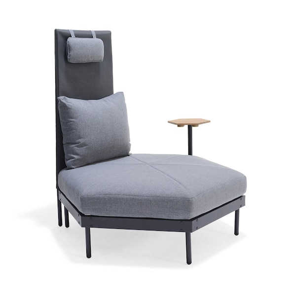 Outdoor-Loungeelement Honeycomb, schwarz