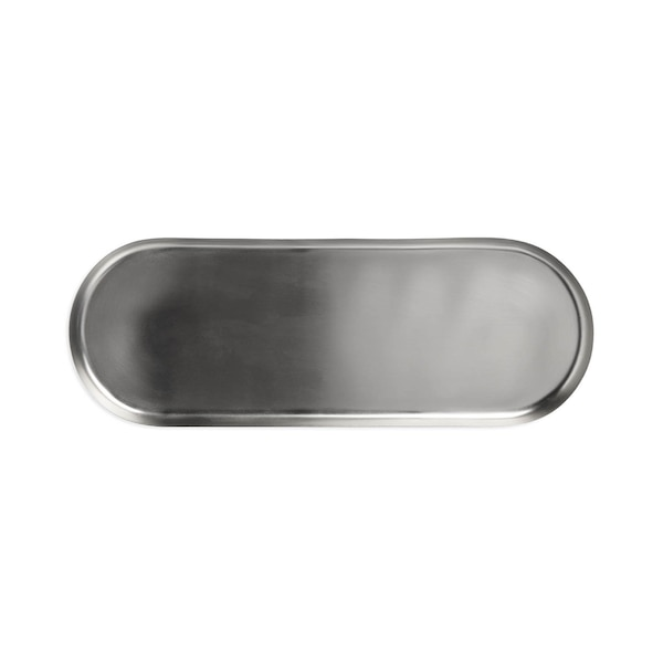 Dekotablett aus Metall, silber
