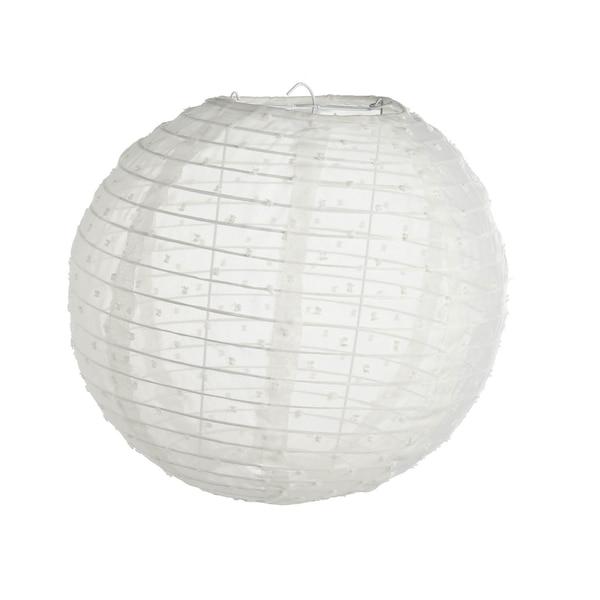 Stofflampion, weiß