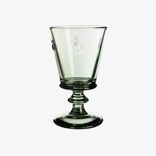 Weinglas Biene, grün