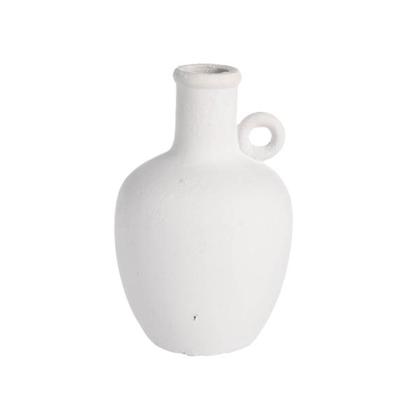 Vase Marrakesch aus Keramik, weiß
