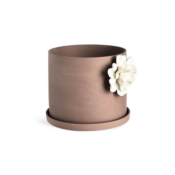 Übertopf Flower, dunkelflieder