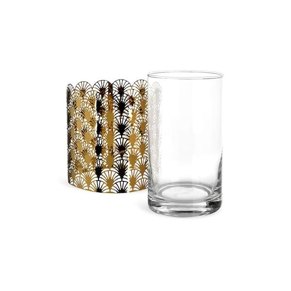 Set Teelichtglas Artdeco, 2-teilig, klar