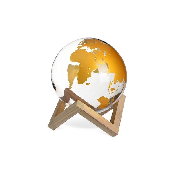 Globus auf Gestell, braun