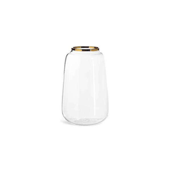 Vase Goldrand aus Glas, gold