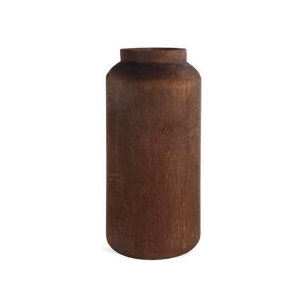 Vase aus Holz, Dark Woody, dunkelbraun