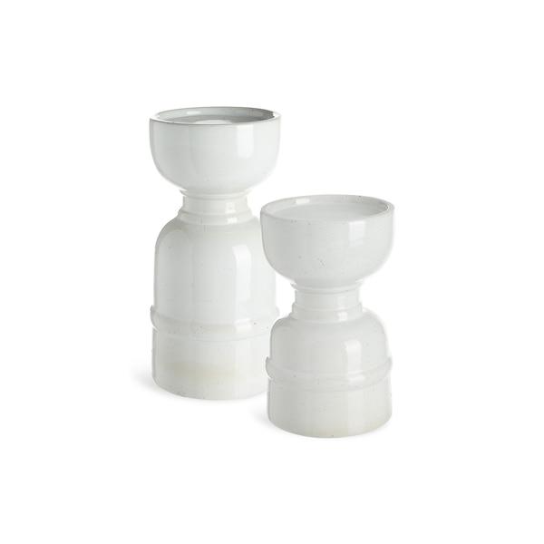 Set Stumpenkerzenhalter Made, 2-teilig, natur