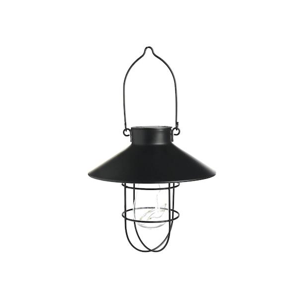 Lichtobjekt Laterne Glühbirne, schwarz
