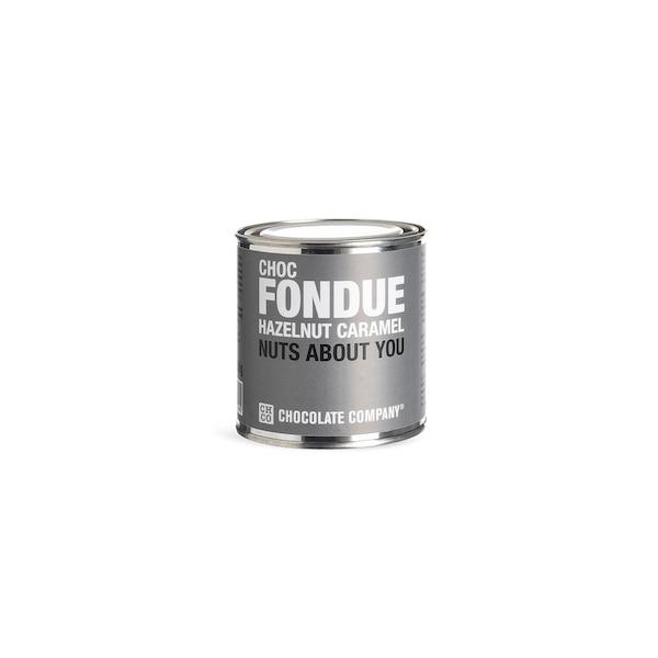 Fondue Hazelnut Caramel, ohne Farbe