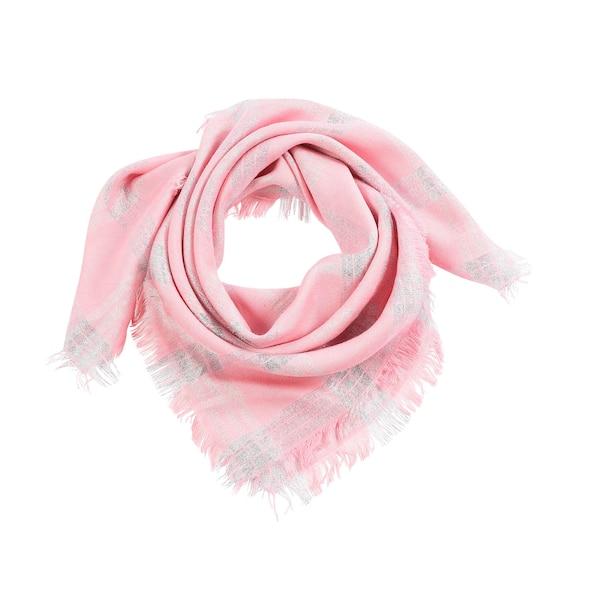 Tuch mit Fransen, rosa