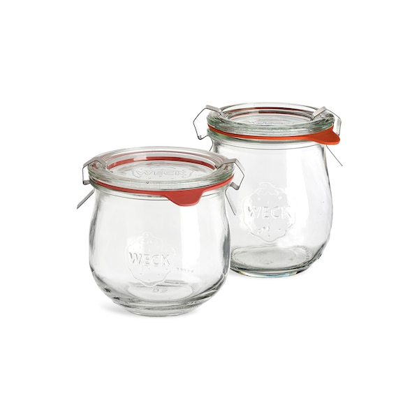 Küchenset Einweckglas, 2-teilig, klar