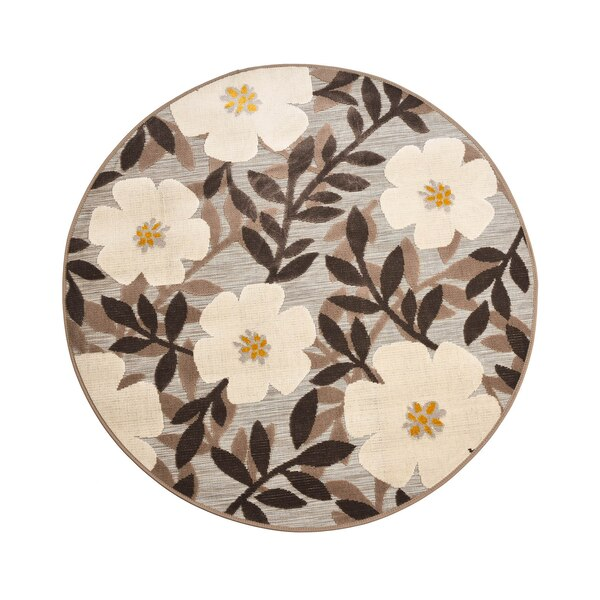 In- & Outdoor-Teppich DEPOT Flower, grau