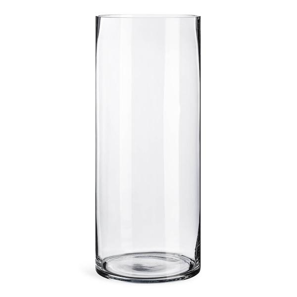 Boden-Vase aus Glas, klar