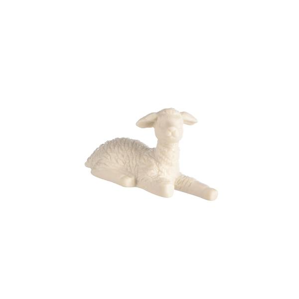 Dekofigur Schaf, liegend, weiß