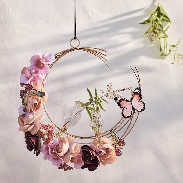 Vase Blüte aus Glas auf Clip, klar