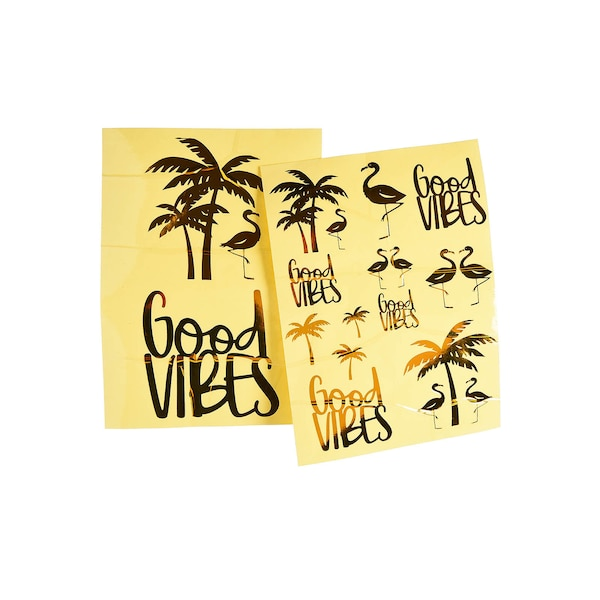 Stickerbogen Good Vibes, gold