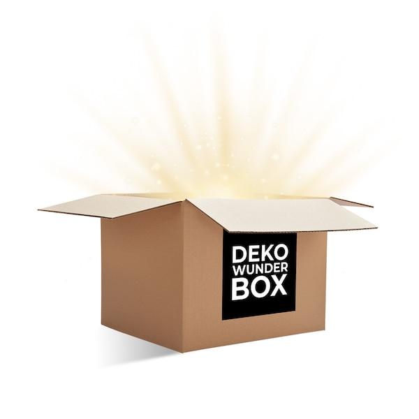 Deko Wunder Box Trockenblumendeko mit Goldakzenten, bunt