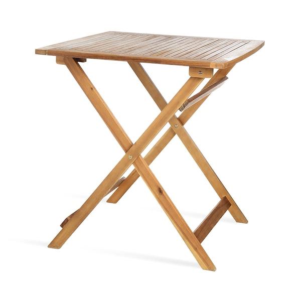 Outdoor-Esstisch aus Akazienholz, klappbar, natur