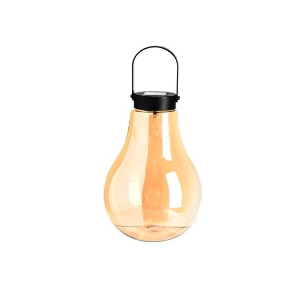 Solarleuchte Glühbirne, gold