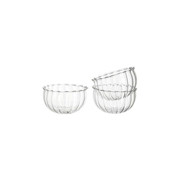 Schwimm-Teelichthalter aus Glas, klar