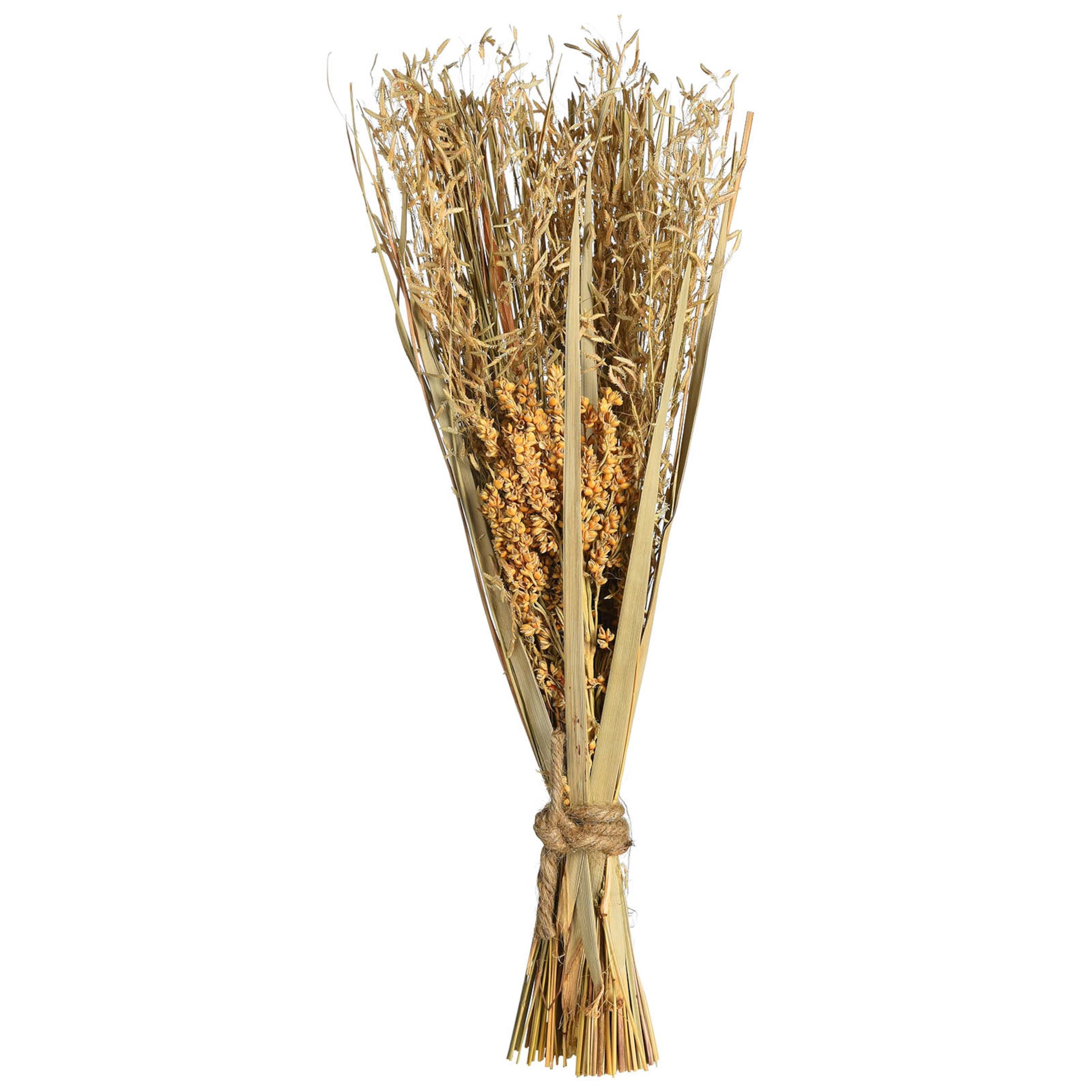 Trockenblume Mixed Gras ca.33,5cm, natur