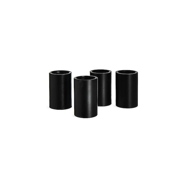 Stabkerzentülle mit Magnet, schwarz