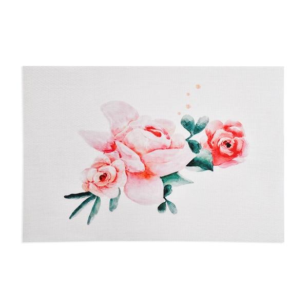 Tischset Roses, hellrosa