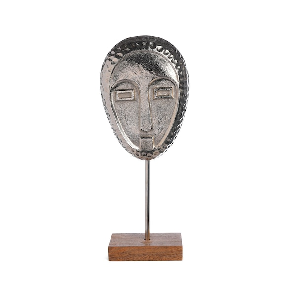 Dekoobjekt Maske, silber