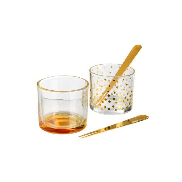 Dipschalen-Set, 4-teilig, gold