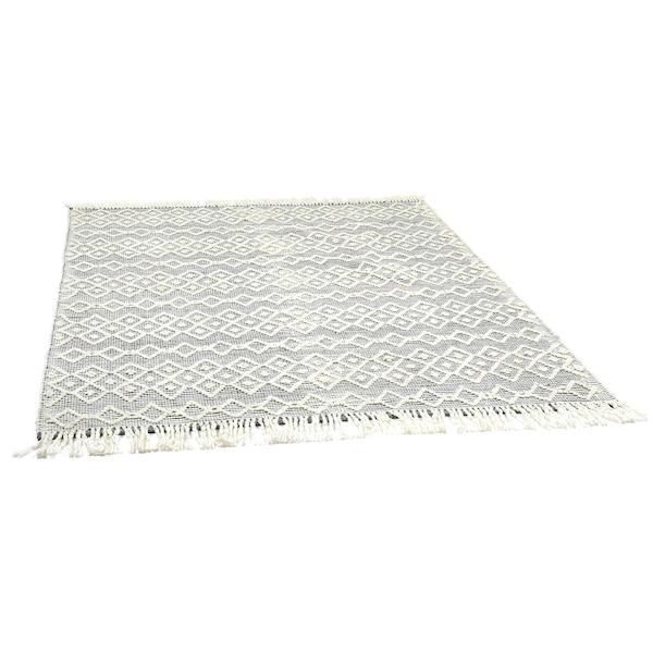 Handgewebter Teppich DEPOT Lou, dunkelgrau