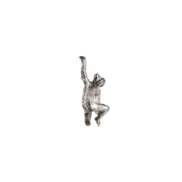 Dekofigur Affe, edelsilber