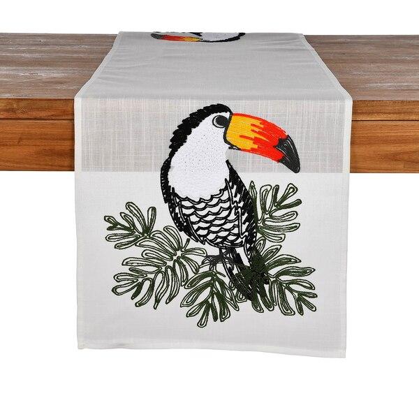 Tischläufer Tukan, schwarz