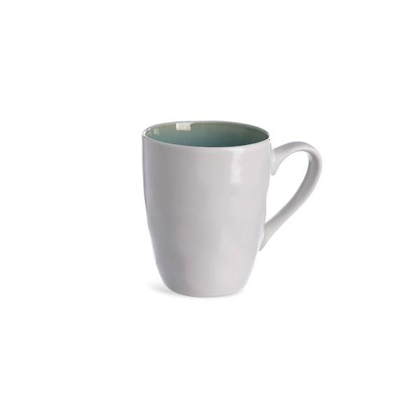 Tasse aus Steinzeug, türkis