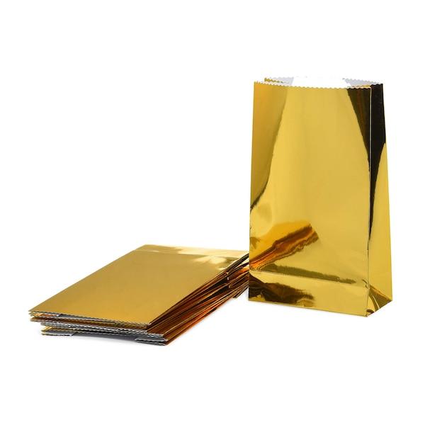 Geschenktüten-Set Metallic, gold