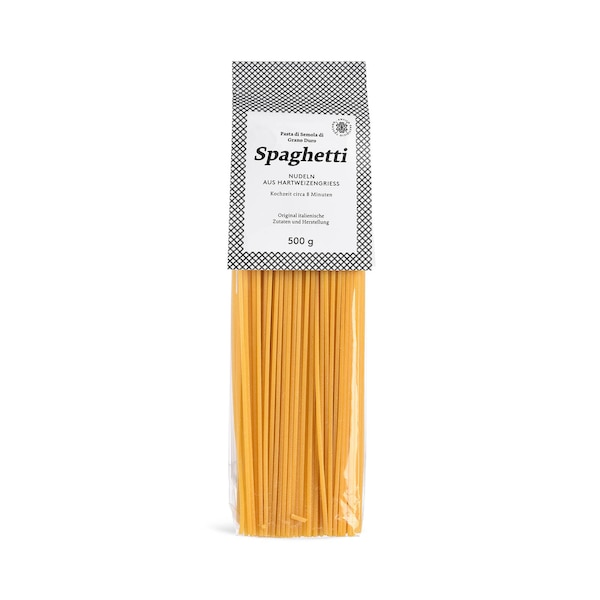 Spaghetti aus Hartweizengrieß, ohne Farbe