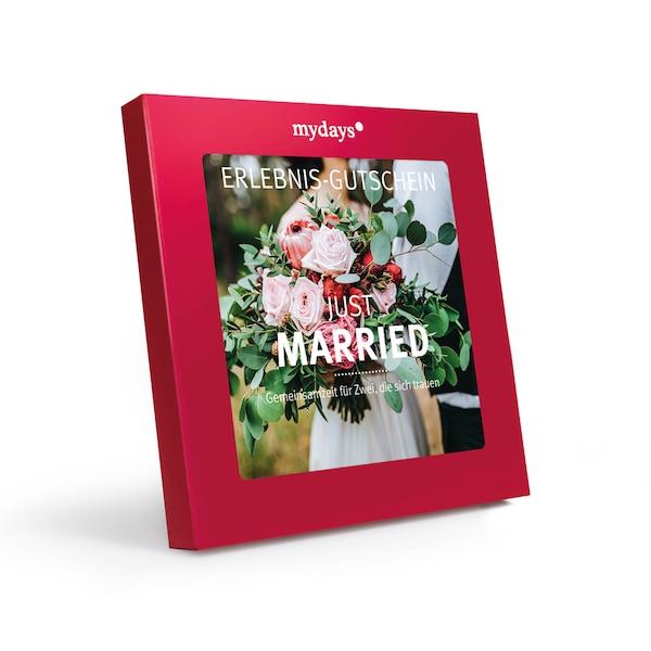 Gutscheinbox Just Married, rot