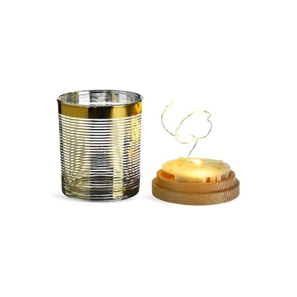 Teelicht mit Deckel, gold