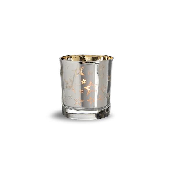Teelichtglas Sterne, gold