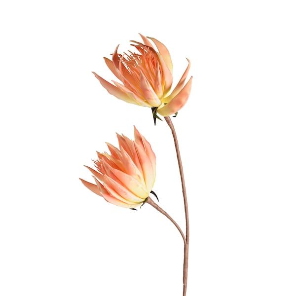Kunstblume Kaktusblume, pfirsich
