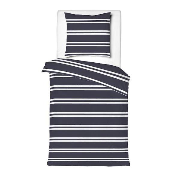 Bettwäscheset Stripe, Übergröße, dunkelblau