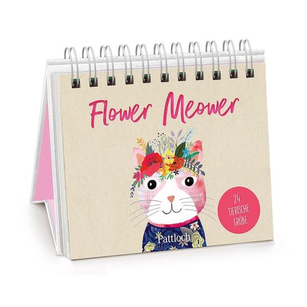 Spiralaufsteller Flower Meower, ohne Farbe