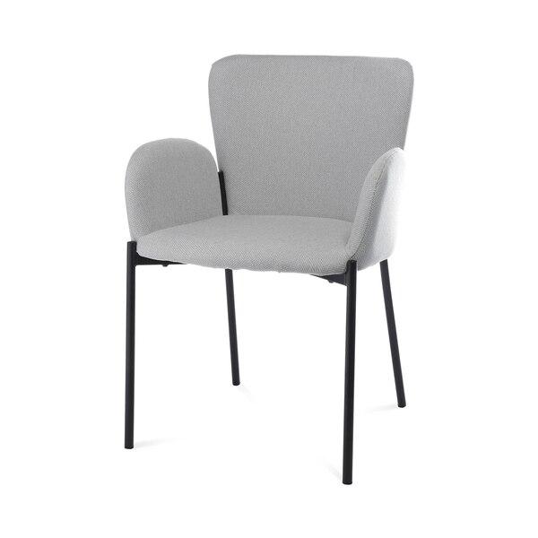 Stuhl mit Armlehnen DEPOT Milli, hellgrau