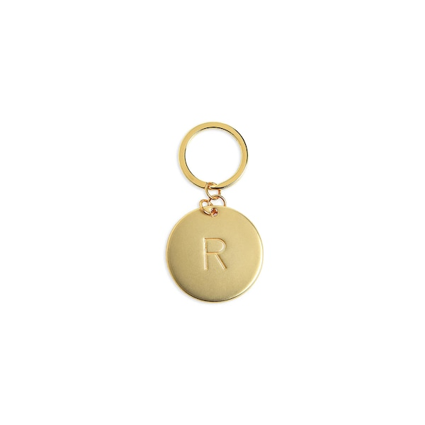 Schlüsselanhänger R, gold