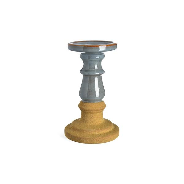 Kerzenhalter Sand, graublau